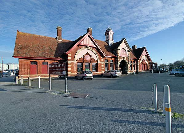 BW-104 - The Grade II listed station building at Bexhill West in November 2013. The station building has been a gallery for the Lewes-based Gorringes auction house since 1994