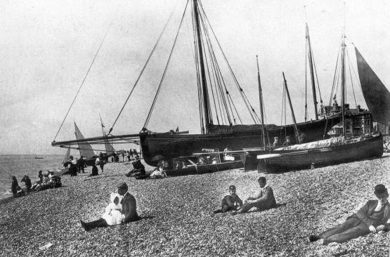 BBE-001 - Beach and Skylark c1896