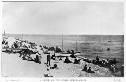 BBE-019 - Bexhill Guidebook c1900 Bexhill Beach