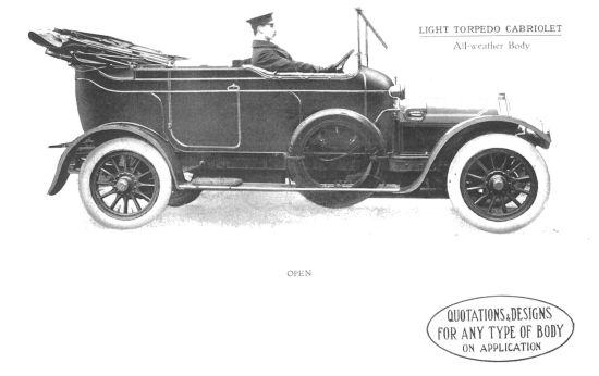 Light Torpedo Cabriolet open