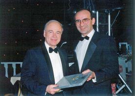 RU-004 - John Russell receiving retirement clock from Renault