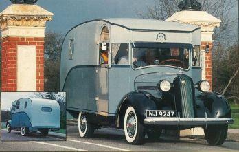 RU-007 - Russell's Dunn motor home front & rear photos restored