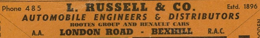 RU-016 - Russell & Company's Advert in 1962