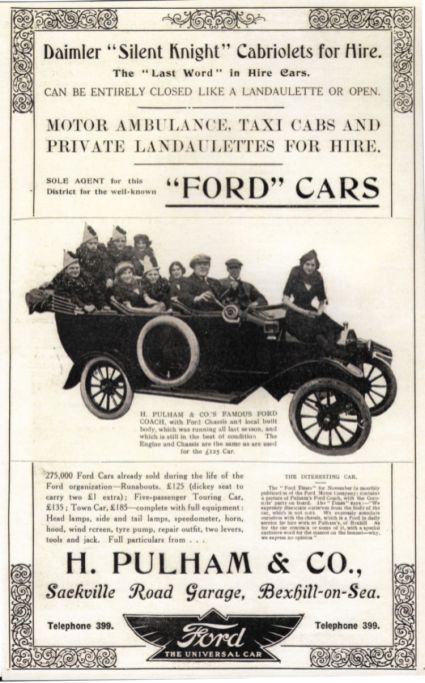 SR27-004 - Advert by Pulham for Ford motor cars