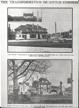The garage on Little Common Roundabout May 1938