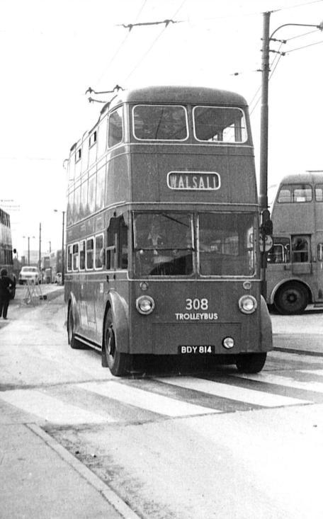 308 BDY814 Walsall serv 8-1966
