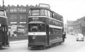 581 exLT2143 LUT374 serv 16 New Inn Wortley 1950s