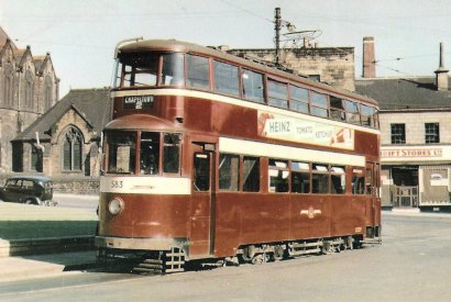 583 exLT Feltham serv 2 @ Chapeltown 9-1956
