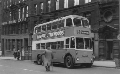 809 BDY799 serv 7 to Thornton in Sunbridge Rd 27-9-1962
