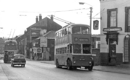 810 BDY800 service 19 to Dudley Hill in Wakefield Rd 23-8-1963