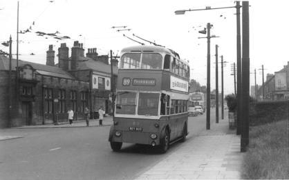 813 BDY803 by Thornbury Depot 7-7-1962