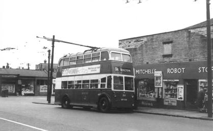 814 BDY820 service 84 to Bolton @ Laisterdyke 17-10-1959