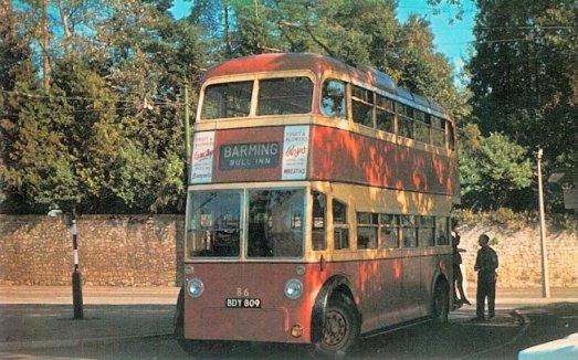 86 BDY809 1947 Sunbeam-Weymann ex Hastings 34