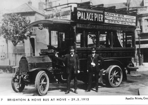 Brighton & Hove Bus on Sackville Rd service 29-5-1913