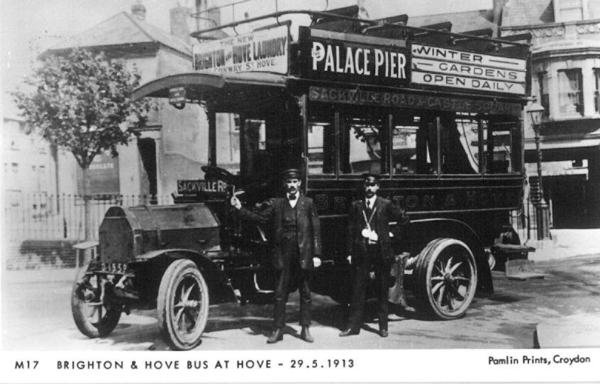 Brighton & Hove Bus on Sackville Rd service 29-5-1913