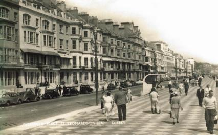Eversfield Place & prom looking east 1950s