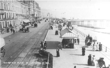 Eversfield Place & prom looking east c1910