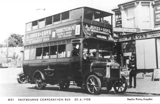 HC1163 d-d bus Ocklynge serv 25-6-1928