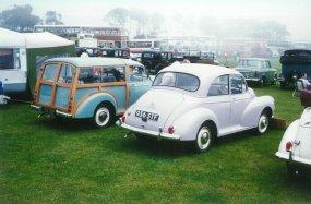 Morris minor 956STF & Traveller 192OBP rear, Hastings 18-5-1997