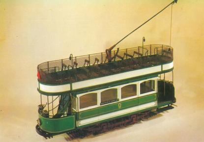 Open top d-d tramcar orig single deck 1901, rebuilt Brush, model