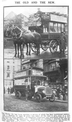 Skinners bus-last horse bus Hast Obs article 6-4-1914