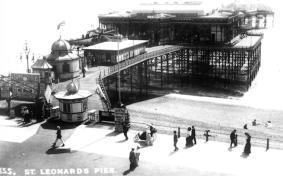 St Leonard's pier entrance, c 1910