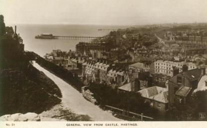 Town & piers from castle looking west