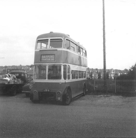 Trolley 51 LCD51 front @ Bexhill West 29-4-1967