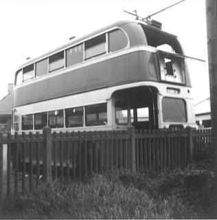 Trolley 51 LCD51 rear nearside @ Bexhill West 12-5-1967