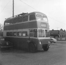 Trolley 57 GKP512 offside at Bexhill West 22-4-1967