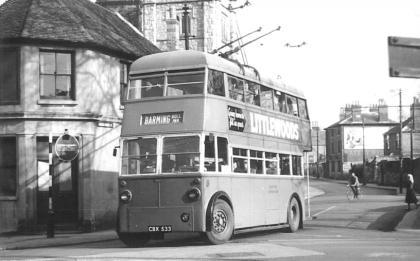 Trolley 64 Barming serv in town