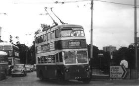Trolley 72 in Bishops Way Barming serv 22-6-1966