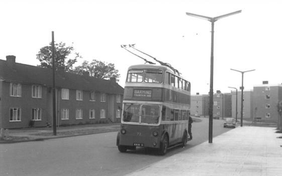 Trolley 72 serv to Barming 26-6-1966
