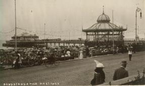 Bandstand & pier from White Rock Parade 19-8-1912