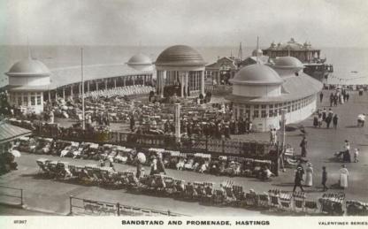 Bandstand rebuilt - Pier Entrance c1920