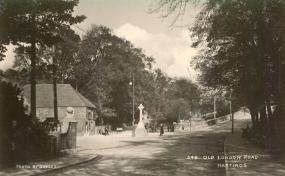 Bottom of Old London Rd( with market cross) Postcard 13-8-1909
