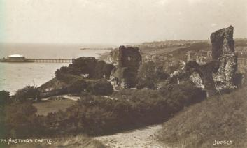 Castle ruins looking west (Judges postcard 1750