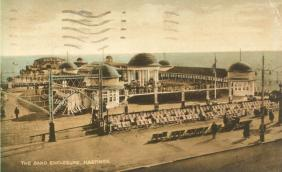 pier entrance & bandstand tinted pc 11-9-1930