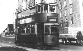102 route 56 to Peckham Rye on Dog Kennel Hill, post-war