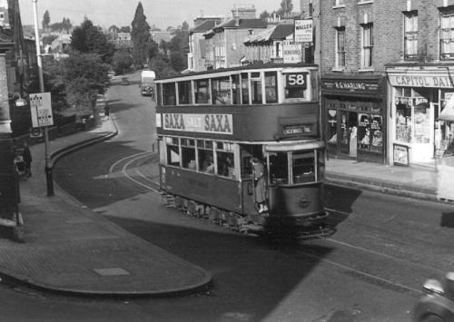 102 route 58 to Blackwall Tnl, 28-9-1951