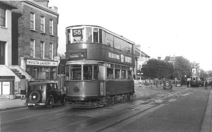 102 route 58 to Blackwall Tnl by Invicta Laundry 28-9-1951