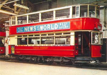 1025 LCC class E1 b1908, LT livery, Clapham Mus