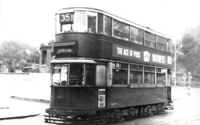 103 special on route 35 @ Peckham Rye, post-war