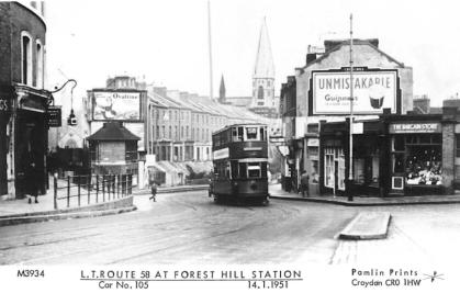 105 route 58 @ Forest Hill stn 14-1-1951