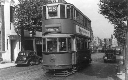 105 route 58 to Blackwall Tnl, 25-9-1951