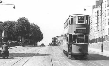 119 route 84 to Peckham Rye on Dog Kennel Hill 1948