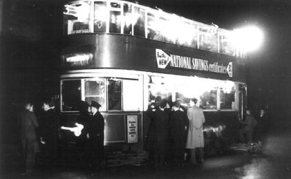 120 @ Blackwall at night [possibly last tram on this route]