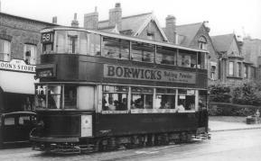 121 route 58 to Catford @ Dulwich, post-war