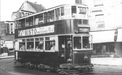 122 route 58 to Victoria @ Forest Hill, post-war