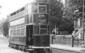 127 route 56 to Peckham Rye, wartime livery